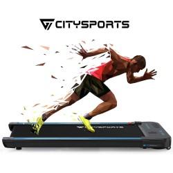 CITYSPORTS Cinta de Correr Caminar Eléctrica Plana del Motor 440W, Altavoces Bluetooth, Velocidad Ajustable