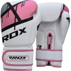 Guantes de boxeo RDX F7 Ego para mujer, rosa
