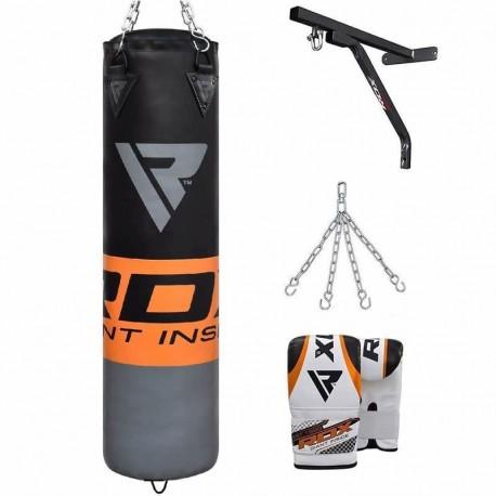 RDX F12 Saco de Boxeo con Guantes y Soporte de Pared