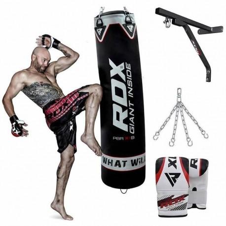 RDX X1 Saco de Boxeo con Guantes y Soporte de Pared