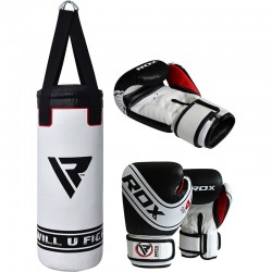 RDX 4W Saco de Boxeo para Niños Robo de 2 pies con Guantes