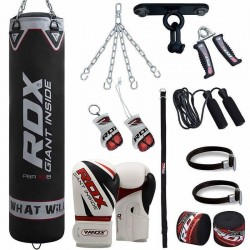 RDX Set de Saco de Boxeo F7 Gimnasio en Casa 17 Pzas