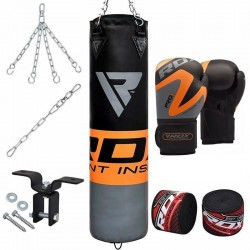RDX FO Set de Saco de Boxeo Naranja Gimnasio en Casa 8 pzas