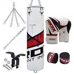RDX F10 Set de Saco de Boxeo con Guantes Gimnasio en Casa 8 Pzas