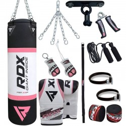 RDX X4 4ft Set de Saco de Boxeo Gimnasio en Casa 13 Pzas