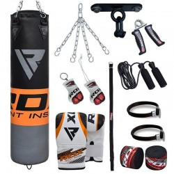 RDX 12O Set de Saco de Boxeo Gimnasio en Casa 13 Pzas