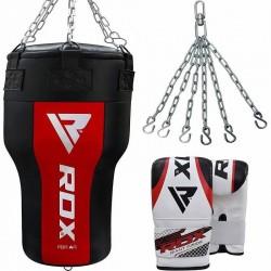 RDX AR Saco de Boxeo Angular con Guantes