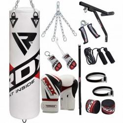 RDX F10 Saco de Boxeo con Guantes Gimnasio en Casa 17 Pzas