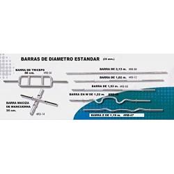 BARRA RECTA DE 2,2 METROS PROFESIONAL DE GIMNASIO 28 MM