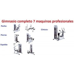 LOTE PACK 7 MAQUINAS DE MUSCULACION PROFESIONAL (GIMNASIO COMPLETO)