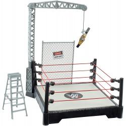PEQUEÑO WWE RING DE LUCHA LIBRE MAQUETA JUGUETE, ACCESORIO DE LOS LUCHADORES (MATTEL GFH65)