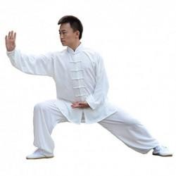 E-Bestar - Uniforme de Tai Chi y Kung Fu de seda y algodón, unisex, traje para artes marciales, Large