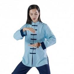 KSUA Uniforme de Artes Marciales para Mujeres Tai Chi Traje Ropa de Kung fu China Ropa de algodón Wing Chun Zen Meditación, A