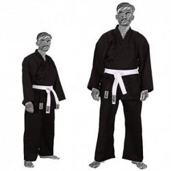 TurnerMAX–Kimono de Karate Artes Marciales algodón TAE KWON DO Uniforme Niños Jiu Jitsu Gi Judo niños Adultos Ropa Negro 14
