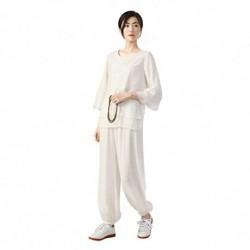 KSUA Mujeres Tai Chi Uniforme Kung Fu Chino Ropa Traje de Artes Marciales de algodón para Kungfu Taichi Zen meditación Artes