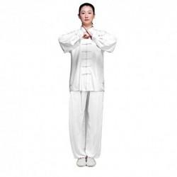 KIKIGOAL Ropa De Taijiquan Práctica, Ropa De Tai Chi, Sub-Algodón y Lino Vestido De Artes Marciales De Viento Chino, Disfraz