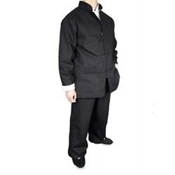 Prima Lino Negro Kung Fu Artes Marciales Taichi Traje Uniforme XS-XL o Hecho por Sastre 101