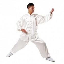 Andux - Uniformes chinos tradicionales chinos de Tai Chi Kung Fu ropa unisex SS-TJF01 Blanco XL