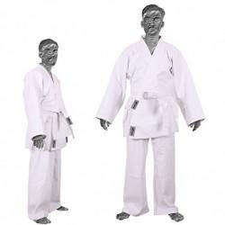 TurnerMAX–Kimono de Karate Artes Marciales algodón TAE KWON DO Uniforme Niños Jiu Jitsu Gi Judo niños Adultos Ropa Blanco 1