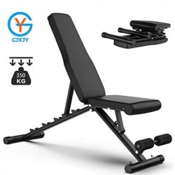 YLAN Adjustable Folding Weight Benches Multi-Function Dumbbell Stool Abdominal Muscle Sit-Up Incline Board Press Fitness, Max