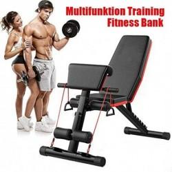Banco de pesas Tribesigns, banco plegable de entrenamiento con cuerda, ajustable para abdominales, banco inclinado interior,