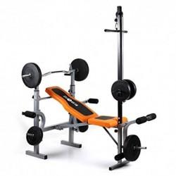 Klarfit Ultimate Gym 3500 Banco de Entrenamiento Dispositivo multifunción de musculación, Curler de Brazos y piernas Ajustab