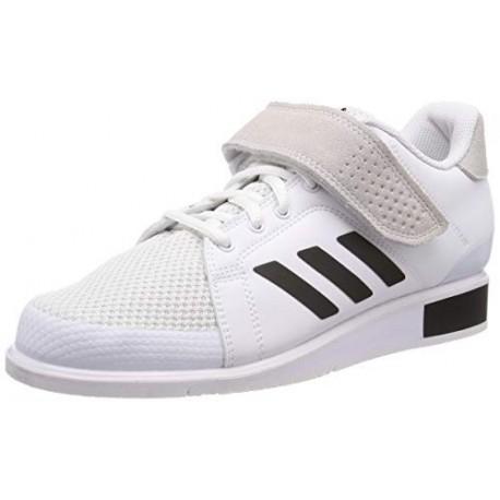 adidas Power III, Zapatillas de Deporte para Hombre, Blanco Footwear White/Core Black/Footwear White 0 , 40 2/3 EU