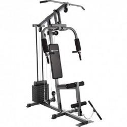 TecTake Multiestación Maquina de musculación   Módulo de Mariposa   Estribo para piernas   8x4,5 kg   Barra - Varios Modelos