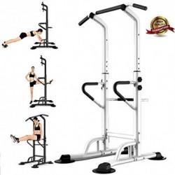 Estación de Musculación, Torre de Gimnasio Entrenamiento Multifuncional, Multiestación con Barra de Dominadas Fitness, Power