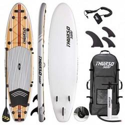 THURSO SURF Tabla Paddle Surf Hinchable Waterwalker 335x81x15 cm Construcción de Dos Capas Deluxe Incluye Remo con Eje de Car