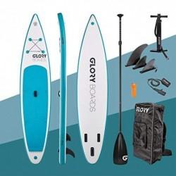 Glory Boards - Juego de Tabla de Surf de 120 con Tabla de Surf de Surf, Tabla de Touring rápida, Estable y Robusta, soport