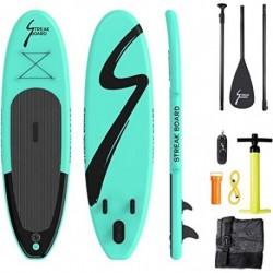 streakboard Tabla Hinchable, Stand-up Paddle Surf de Sup, Grosor hasta 15cm,Cubierta Antideslizante, Incluida Mochila, Correa