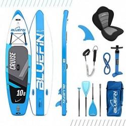 Paquete de Sup Bluefin Cruise | Tabla de Paddle Surf Hinchable | Remo de Fibra de Vidrio | Kit de Conversión a Kayak | Acceso