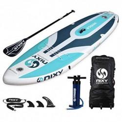NIXY Tabla de Paddle Surf Hinchable para Principiantes. Tabla Ultra Ligera, 3 Metros 2 centimetros. Elaborada con tecnología