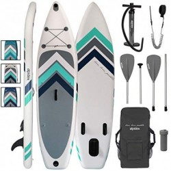 ALPIDEX Tabla Hinchable Surf Stand Up Paddle Board 305 x 76 x 15 cm ISUP Peso Máximo 110 kg Sup Ligero Estable Juego Completo