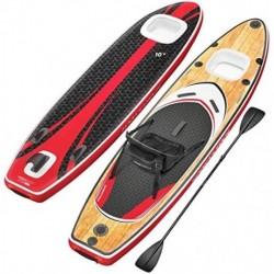 ¡Novedad de feria ISPO 2020! Premium Tabla Hinchable Paddle Surf WBX con Ventana 2en1 | Agarre para cámara + 9en1 Set SUP | M
