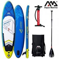 Aqua Marina Beast 2019 Sup Board - Tabla de Surf Hinchable , Board+SportIII Paddle