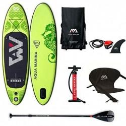 Aqua Marina Sup Board Stand Up Paddle AQUAMARINA Breeze 2019 - Tabla de Surf Hinchable 275 x 76 x 12 cm, con Asiento de Kaya