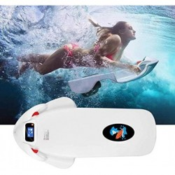 MSG ZY Tabla de Surf eléctrica, Scooter subacuático Tabla de Surf Sea Scooter Velocidad de rotación de 4 Niveles, Tabla de Su
