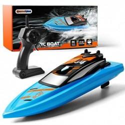GizmoVine Barco Teledirigido RC Barco Alta Velocidad de 2.4 GHz ,1 Batería Juguetes Electronico para Niño Niña Juegos en Basc