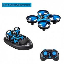 Goolsky JJRC H36F Terzetto 3 en 1 Drone Barco Coche Agua Modo Tierra Modo Aire Modo 3 Altitud Mantener Modo sin Cabeza RC Qua