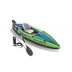 Intex 68305NP - Kayaks deportivos Kayak inflable, 1 personas s , 100 kg, PVC, 274 X 76 X 33 cm, color Negro, Verde
