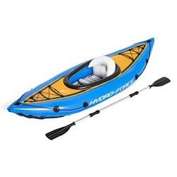 Bestway 65115 - Kayak Hinchable Hydro-Force Cove Champion 275x81 cm Individual con Remo y Bomba