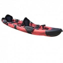 Cambridge Kayaks ES, Sun Fish TÁNDEM SÓLO 2 + 1,Negro Y Rojo, RIGIDO