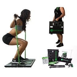 BodyBoss 2.0: El 1er gimnasio portátil en el mundo - Úsalo en casa, fuera o durante un viaje - Paquete completo/Verde