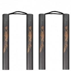 2 Pack Martial Arts Espuma acolchada entrenamiento de entrenamiento Nunchakus para Beiginners, El mejor regalo del juguete pa