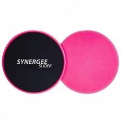 iheartsynergee Power Pink Core Sliders. Uso de doble cara en alfombras o pisos de madera dura. Equipo de ejercicio abdominal