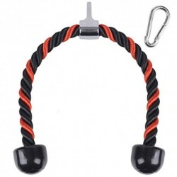 XYZDOUBLE Cuerda Tríceps Accesorio para Cable de TraccióN hacia Abajo con Tríceps y BíCeps Multi Gym Nylon Manijas Antidesliz