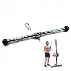 Barra Triceps Los 54CM-Heavy Tríceps Sólidos Barra De Rotación, La Barra Lateral Desplegable, Adecuado for La Barra Casera Ej