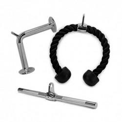 ZLLF Barra Triceps Todo 3PCS LAT Accesorios Máquina, LAT tríceps Bar Gota de Fitness del trigémino Cuerda Accesorios de la má